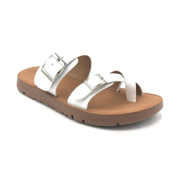Forever Reform-2 White Color Flat-Sandals Shoes for Women