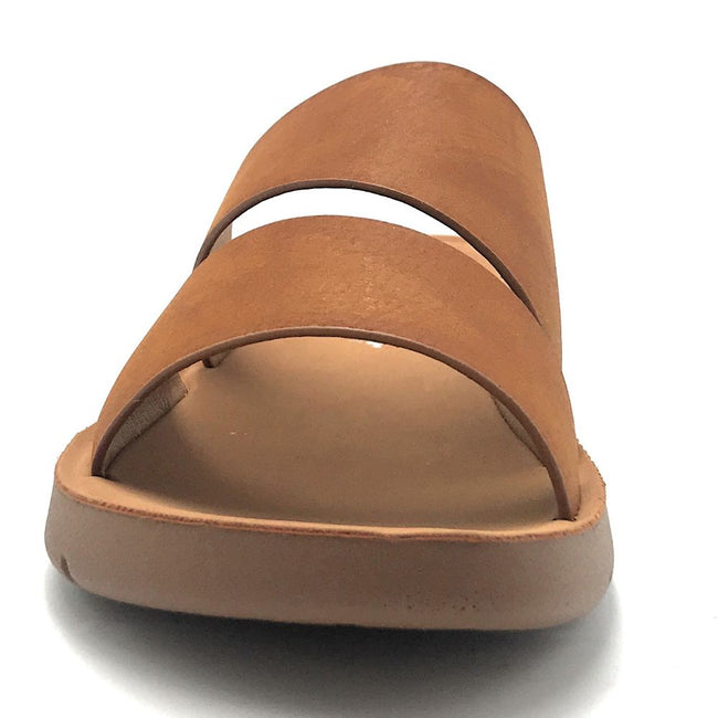 Forever Reform-4 Tan Color Flat-Sandals Shoes for Women