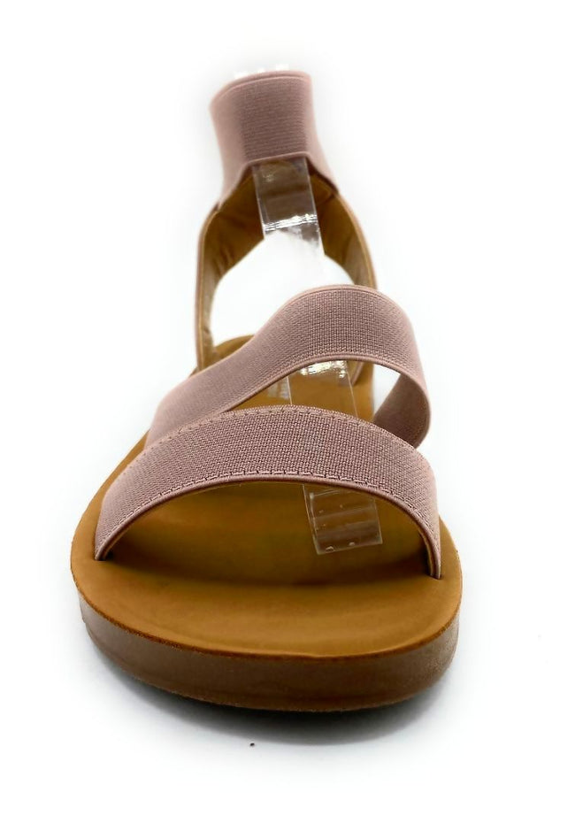 Forever Reform-54 Pink Color Flat-Sandals Front View, Women Shoes