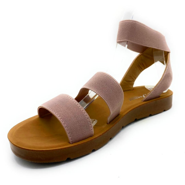 Forever Reform-54 Pink Color Flat-Sandals Left Side view, Women Shoes