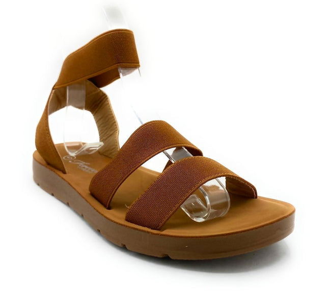 Forever Reform-54 Tan Color Flat-Sandals Right Side View, Women Shoes