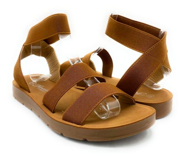 Forever Reform-54 Tan Color Flat-Sandals Both Shoes together, Women Shoes