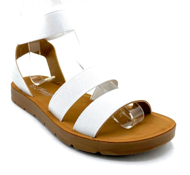 Forever Reform-54 White Color Flat-Sandals Right Side View, Women Shoes
