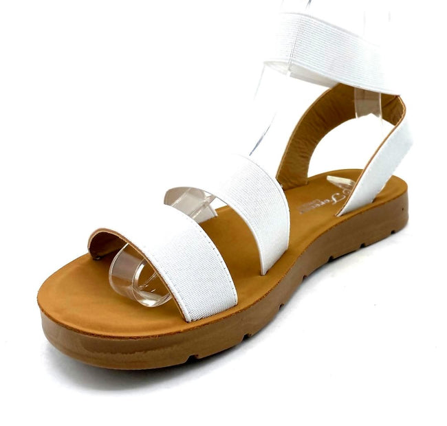 Forever Reform-54 White Color Flat-Sandals Left Side view, Women Shoes