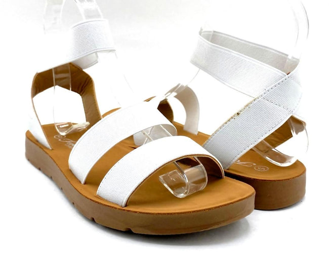 Forever Reform-54 White Color Flat-Sandals Both Shoes together, Women Shoes