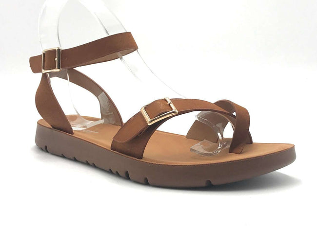 Forever Reform-58 Tan Color Flat-Sandals Shoes for Women
