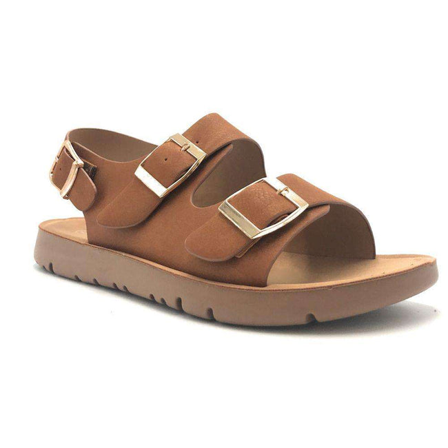Forever Reform-6 Tan Color Flat-Sandals Shoes for Women