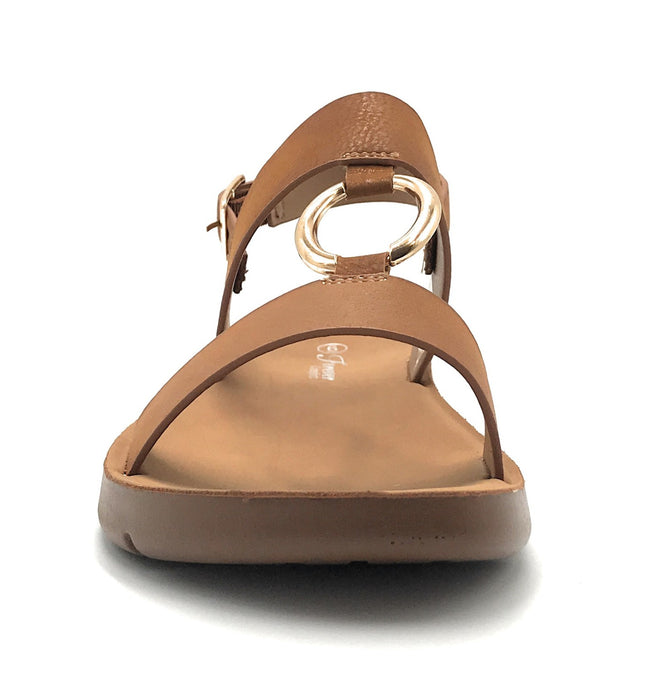 Forever Link Reform-62 Tan Color Flat-Sandals Shoes for Women