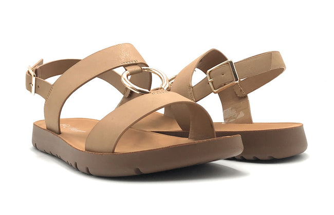 Forever Link Reform-62 Taupe Color Flat-Sandals Shoes for Women