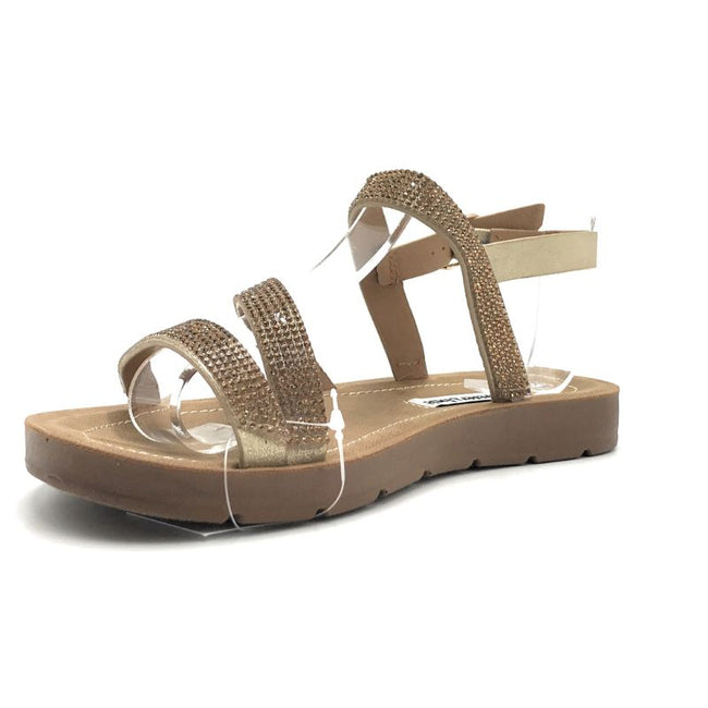 Forever Reform-75 Gold Color Flat-Sandals Shoes for Women