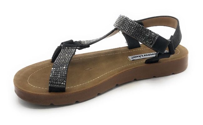 Forever Reform-76 Black Color Flat-Sandals Shoes for Women