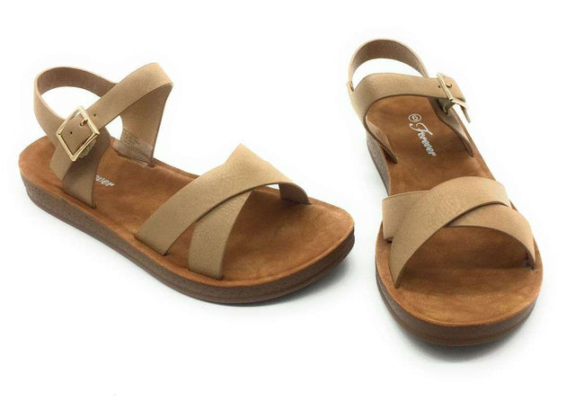 Forever Reform-8 Beige Color Flat-Sandals Shoes for Women