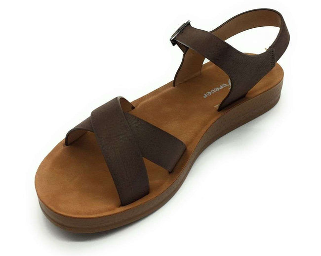 Forever Reform-8 Coffee Color Flat-Sandals Shoes for Women