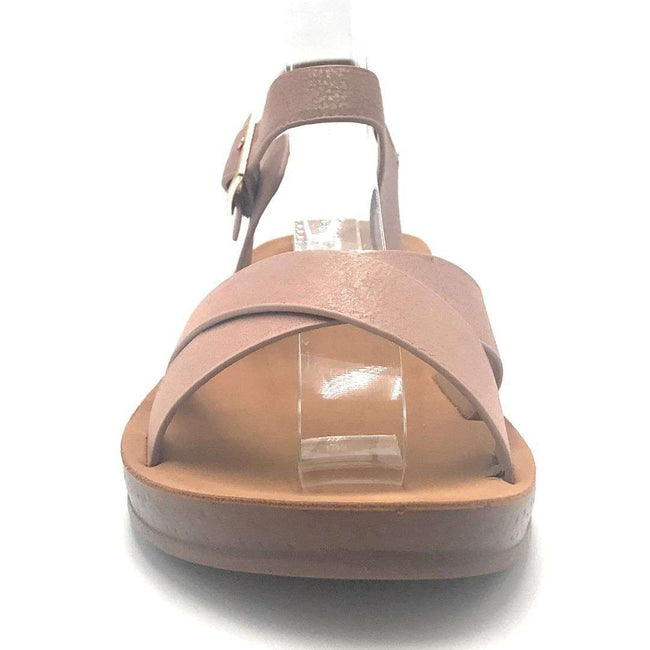 Forever Reform-8 Pink Color Flat-Sandals Shoes for Women