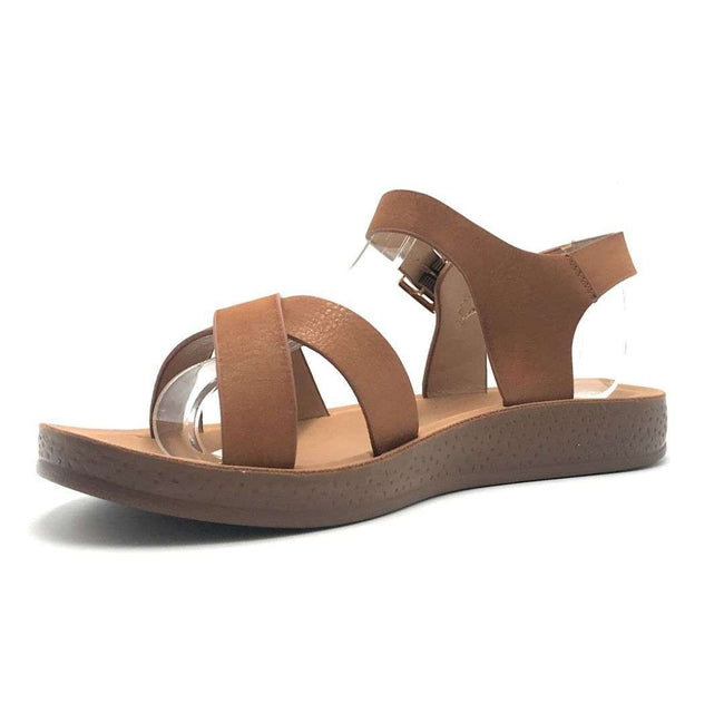 Forever Reform-8 Tan Color Flat-Sandals Shoes for Women
