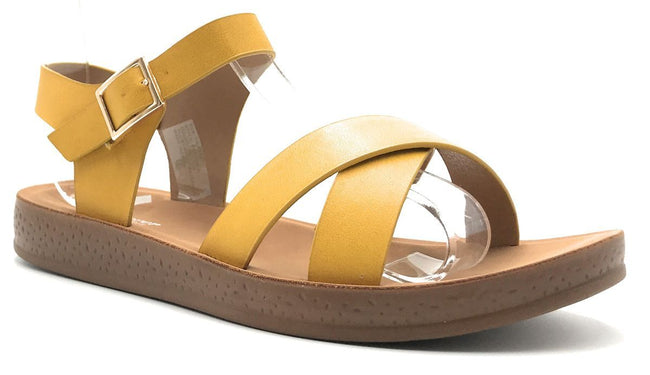 Forever Reform-8 Yellow Color Flat-Sandals Shoes for Women