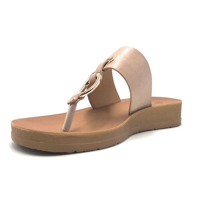 Forever Remain-34 Dusty Pink Color Flat-Sandals Shoes for Women
