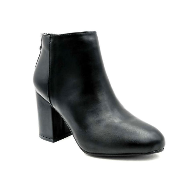 Forever Rosie-33 Black PU Color Boots Left Side view, Women Shoes