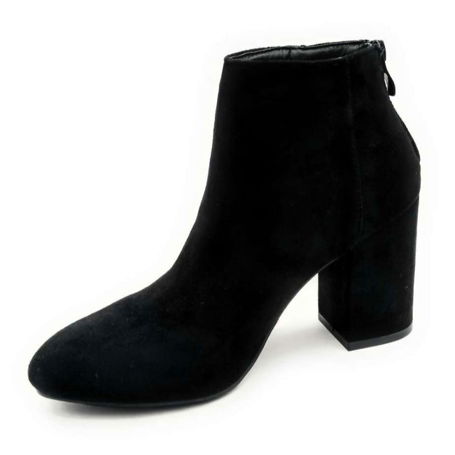 Forever Rosie-33 Black SU Color Boots Right Side View, Women Shoes