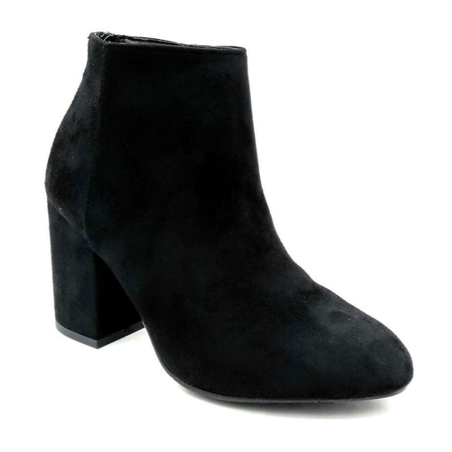 Forever Rosie-33 Black SU Color Boots Left Side view, Women Shoes