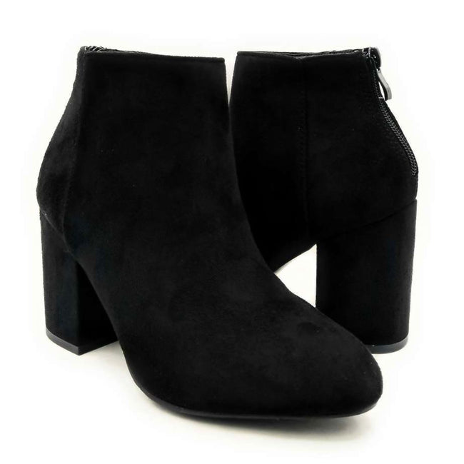 Forever Rosie-33 Black SU Color Boots Both Shoes together, Women Shoes