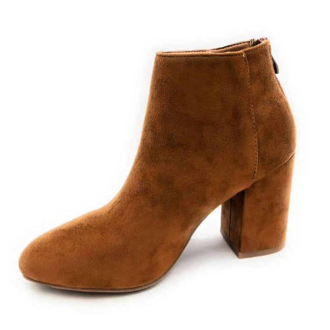 Forever Rosie-33 Tan SU Color Boots Right Side View, Women Shoes