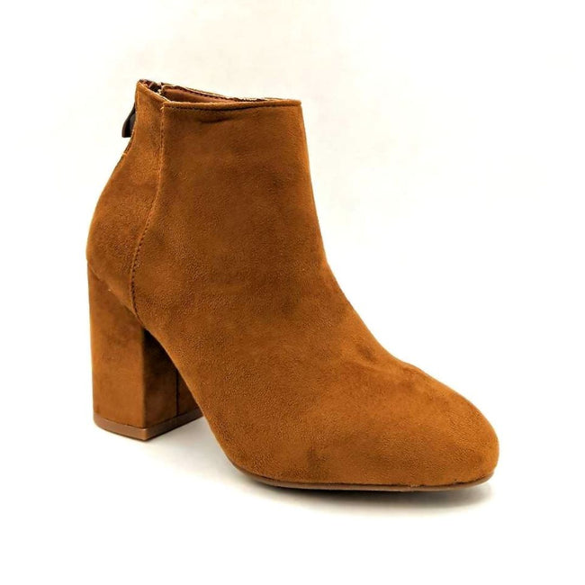 Forever Rosie-33 Tan SU Color Boots Left Side view, Women Shoes