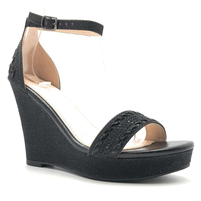Forever Seal-21 Black Color Wedge Shoes for Women