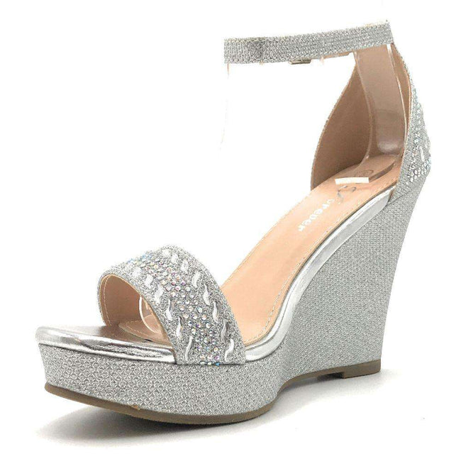 Forever Seal-21 Silver Color Wedge Shoes for Women
