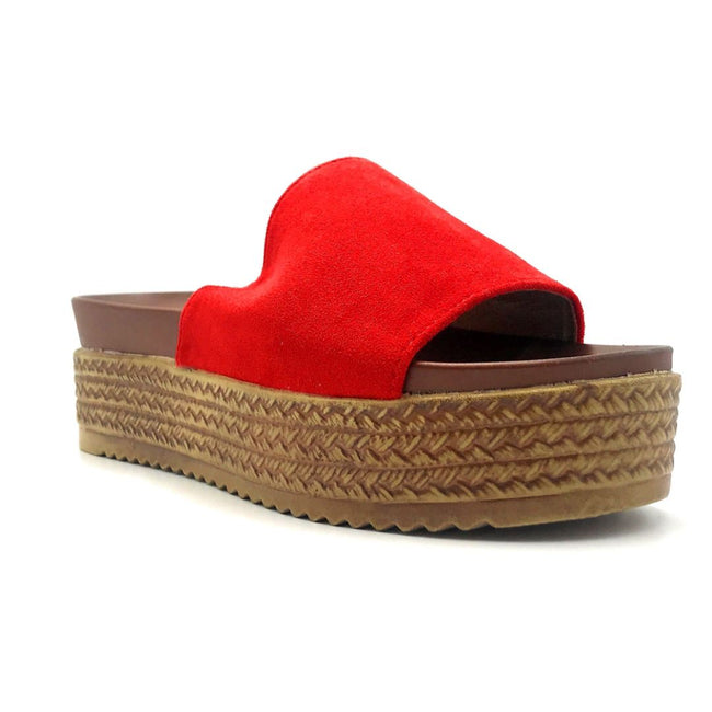 Forever Similar-07 Red Color Wedge Right Side View, Women Shoes