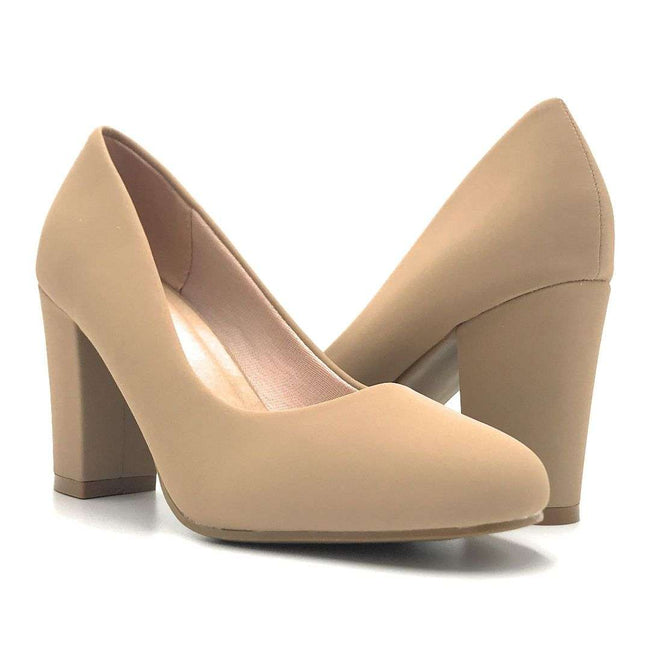 Forever Songful-4 Taupe Nub Color Pumps Shoes for Women