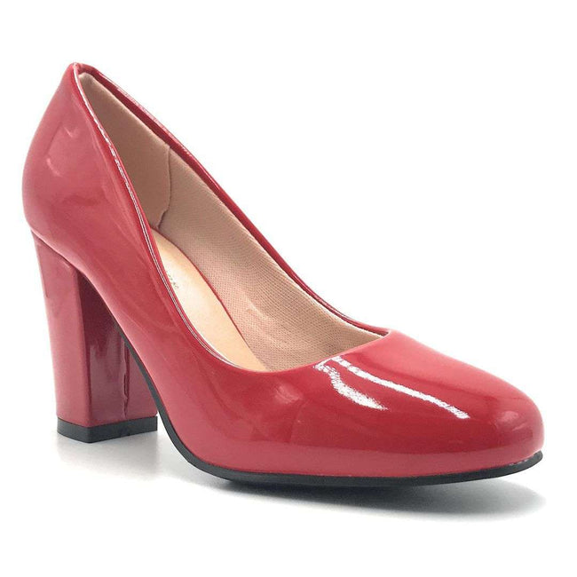 Forever Songful-5 Red Pat Color Pumps Shoes for Women