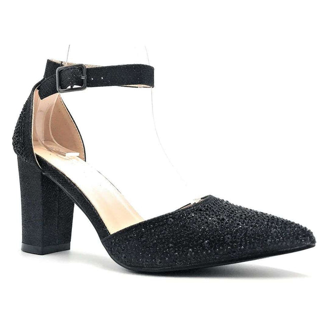 Forever Songful-7 Black Color Heels Shoes for Women