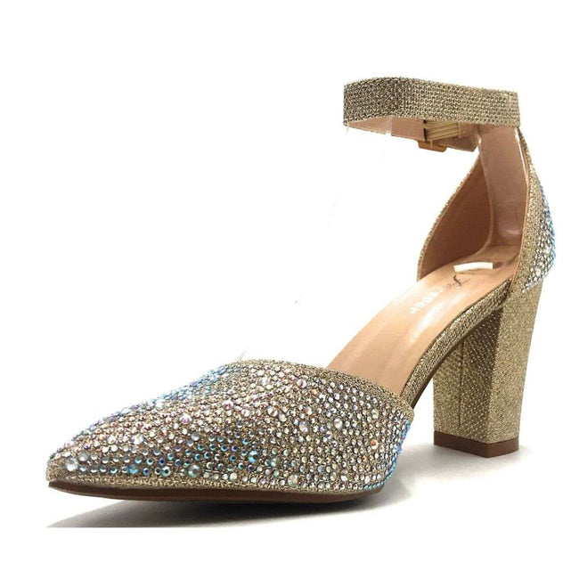 Forever Songful-7 Champagne Color Heels Shoes for Women