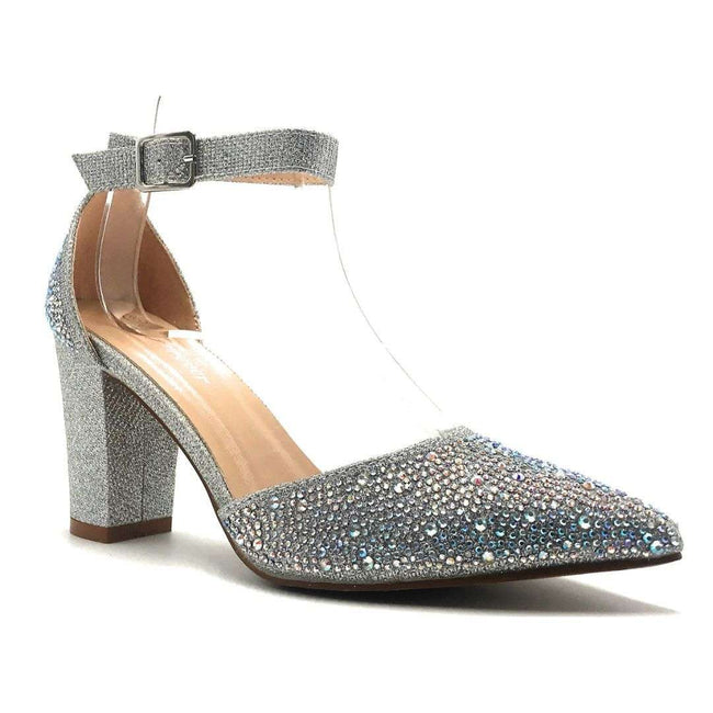 Forever Songful-7 Silver Color Heels Shoes for Women