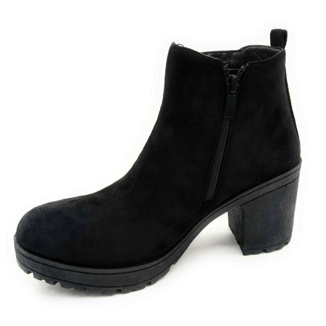 Forever Status-49 Black Color Boots Right Side View, Women Shoes