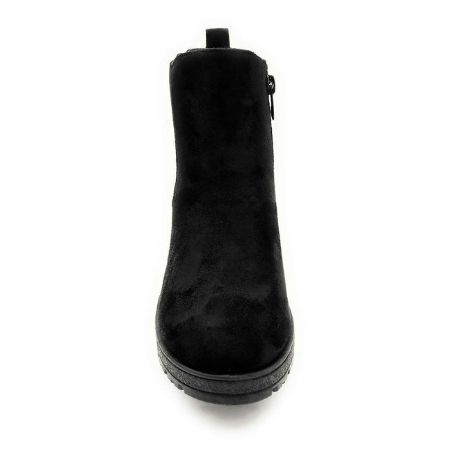 Forever Status-49 Black Color Boots Front View, Women Shoes