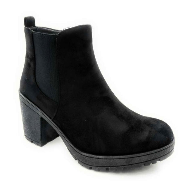 Forever Status-49 Black Color Boots Left Side view, Women Shoes