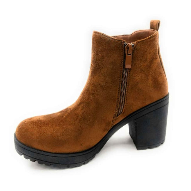 Forever Status-49 Brown Color Boots Right Side View, Women Shoes