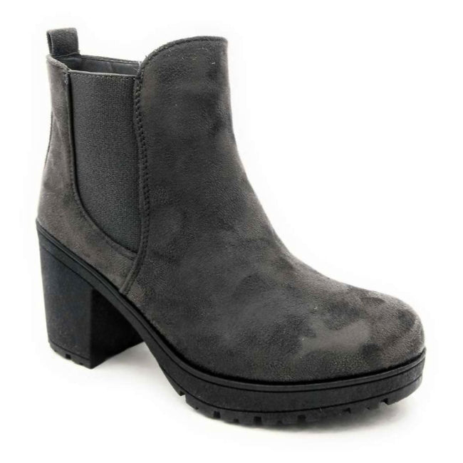 Forever Status-49 Grey Color Boots Left Side view, Women Shoes