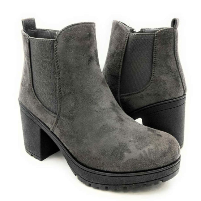 Forever Status-49 Grey Color Boots Both Shoes together, Women Shoes