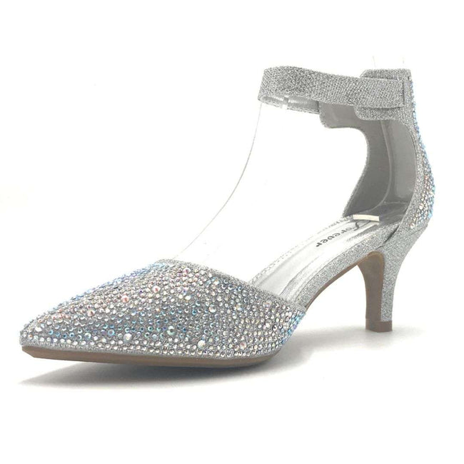 Forever Sunrise-36 Silver Color Heels Shoes for Women