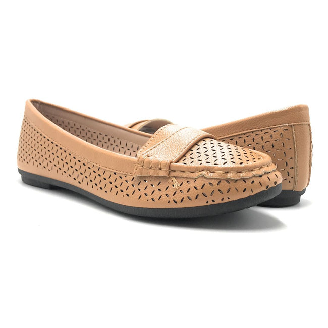 Forever Supple-36 Tan Color Ballerina Shoes for Women