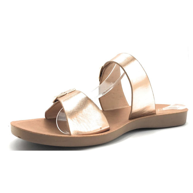 Forever Theresa-7 Rose Gold Color Flat-Sandals Shoes for Women