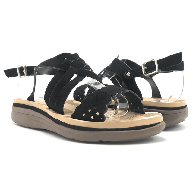 Forever Tracy-15 Black Color Flat-Sandals Shoes for Women