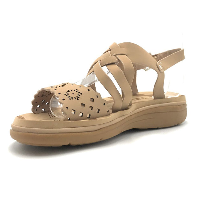 Forever Tracy-15 Taupe Color Flat-Sandals Shoes for Women