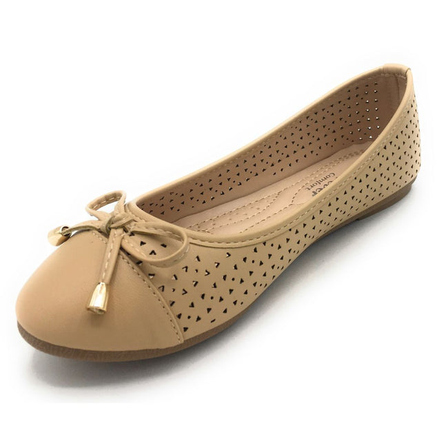 Forever Upgrade-63 Beige Color Ballerina Shoes for Women