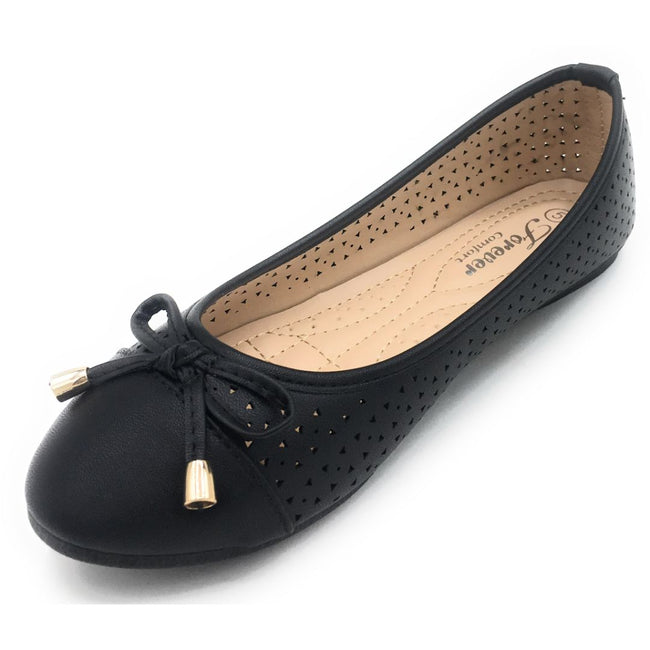 Forever Upgrade-63 Black Color Ballerina Shoes for Women