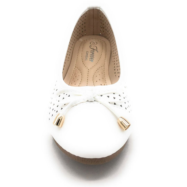 Forever Upgrade-63 White Color Ballerina Shoes for Women