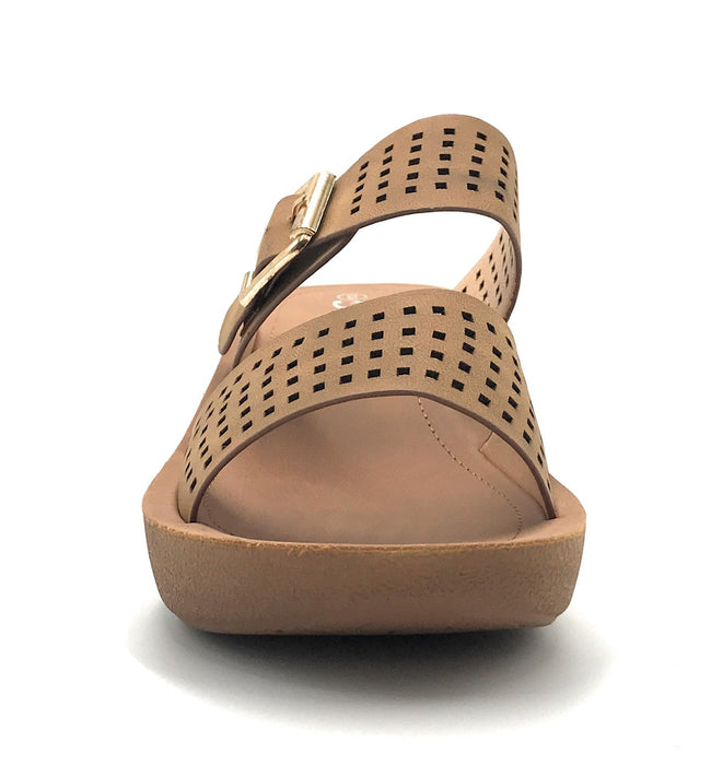 Forever Link Wedge-21 Tan Color  Shoes for Women